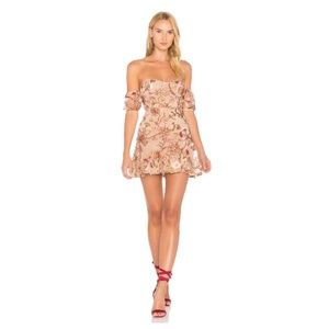 For Love and Lemons Embroidered Mini Dress